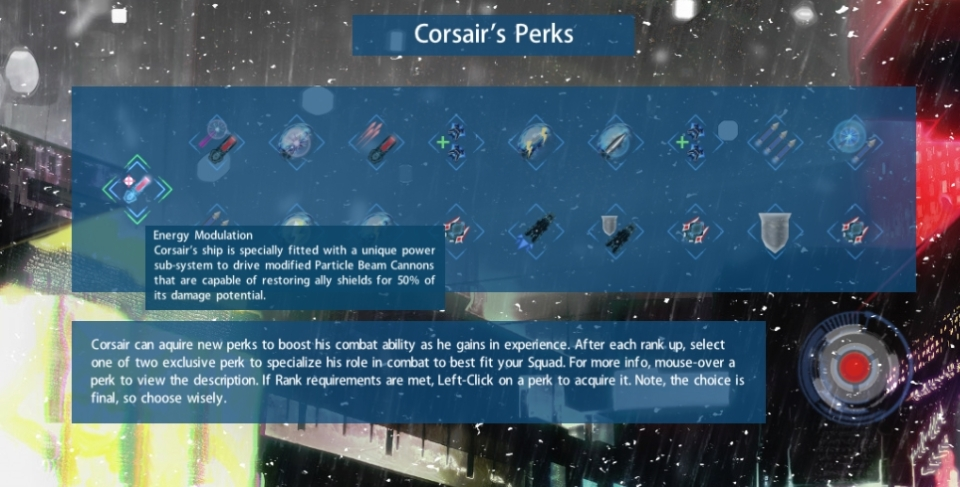 Corsair Perks
